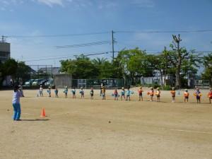 幼稚園の練習の様子